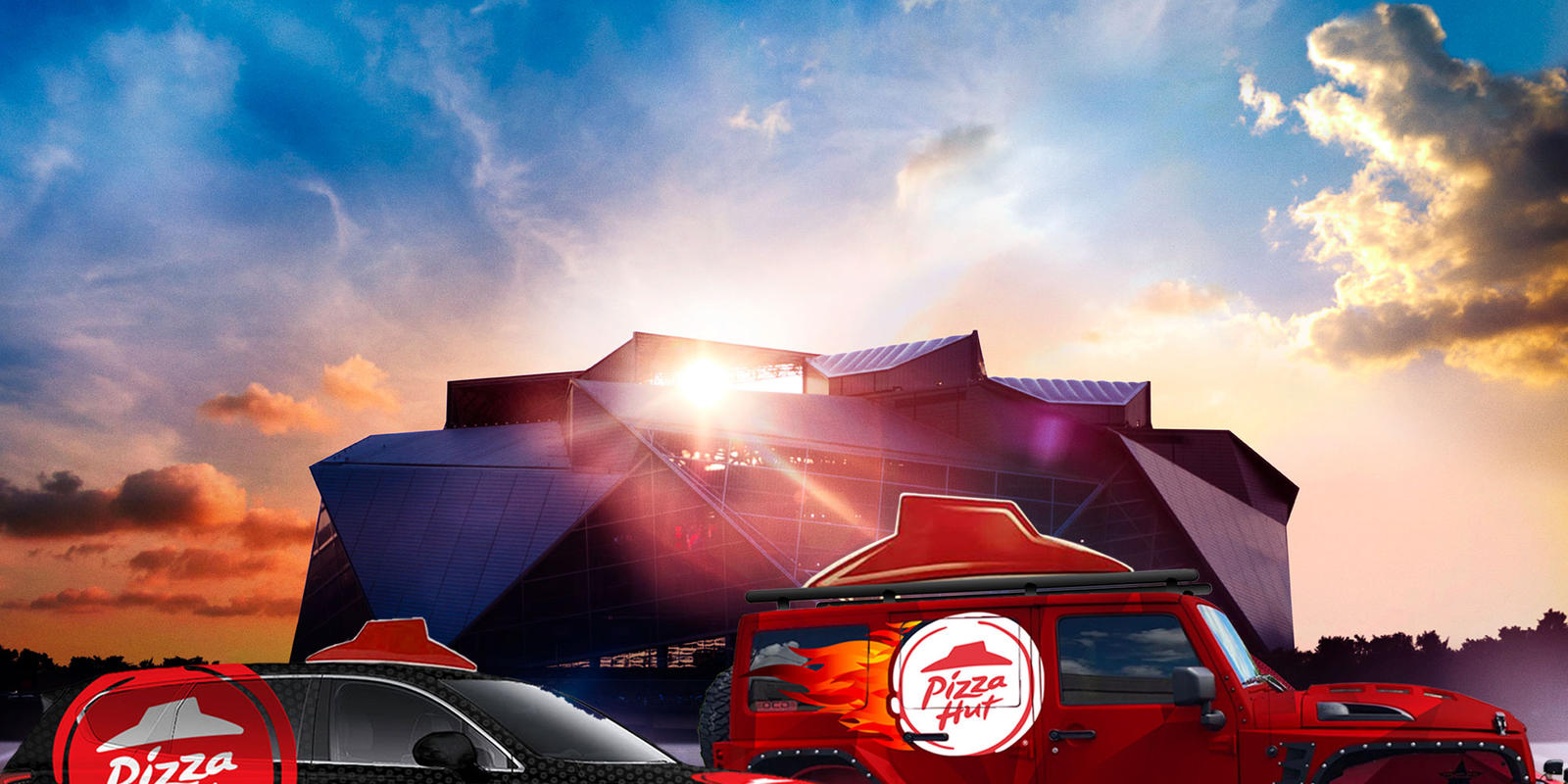 Pizza Hut Delivery Fleet at Atlanta Stadium