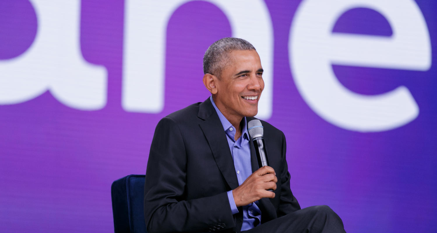 Obama talking at Oktane presentation