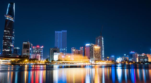 Ho Chi Minh skyline at night