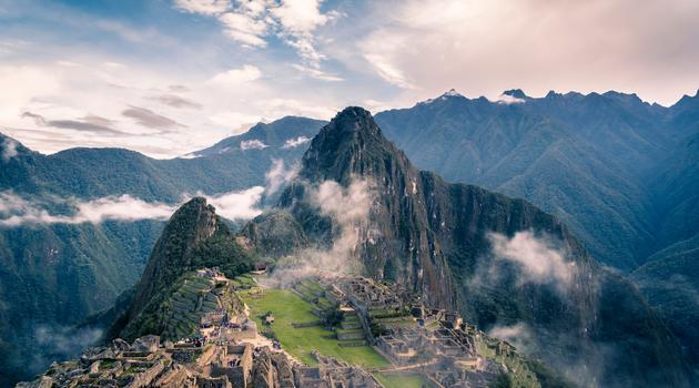 Clouds over mountains in Peru