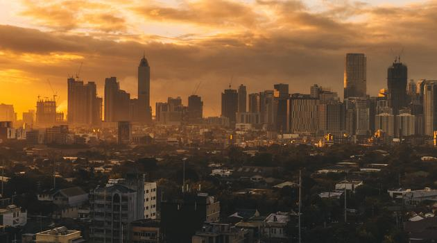 Aerial photography of city skyline Philippines