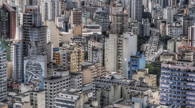 Tall buildings in the city in São Paulo