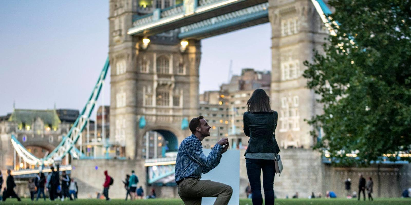 Nick proposing in London