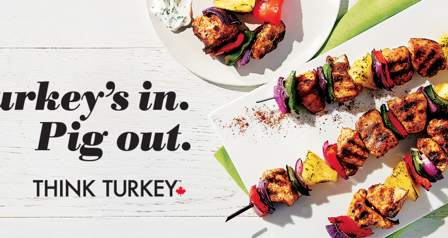 Turkey Farmers of Canada Pig's Out Turkeys In skewers of turkey