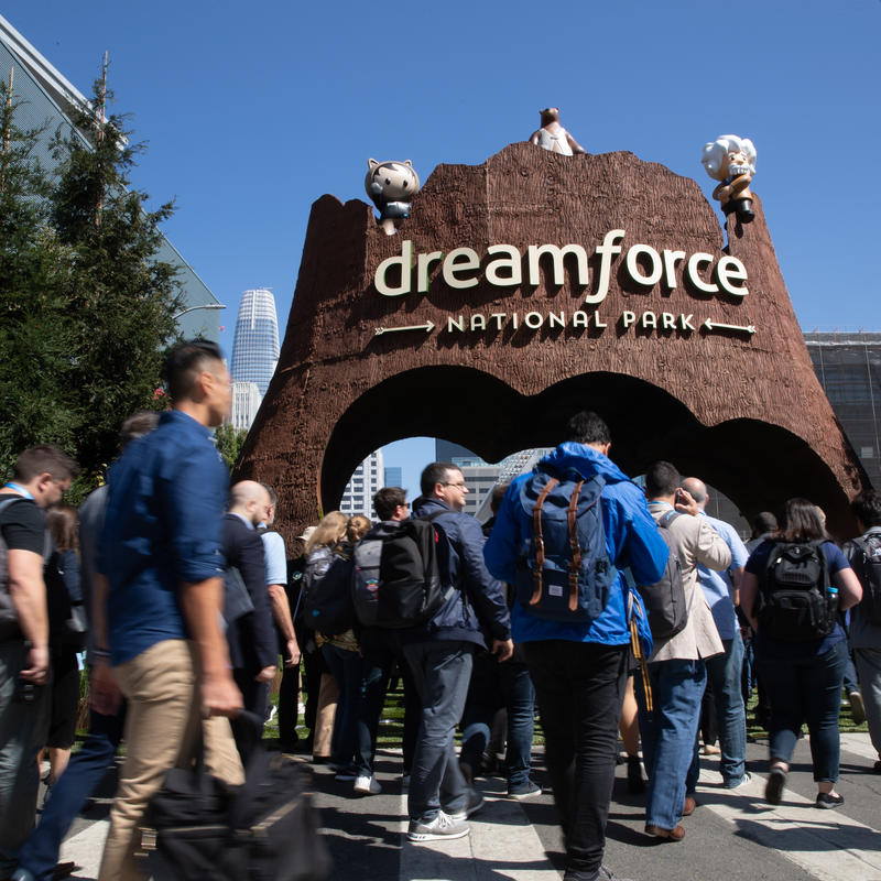 Salesforce Dreamforce National Park entrance